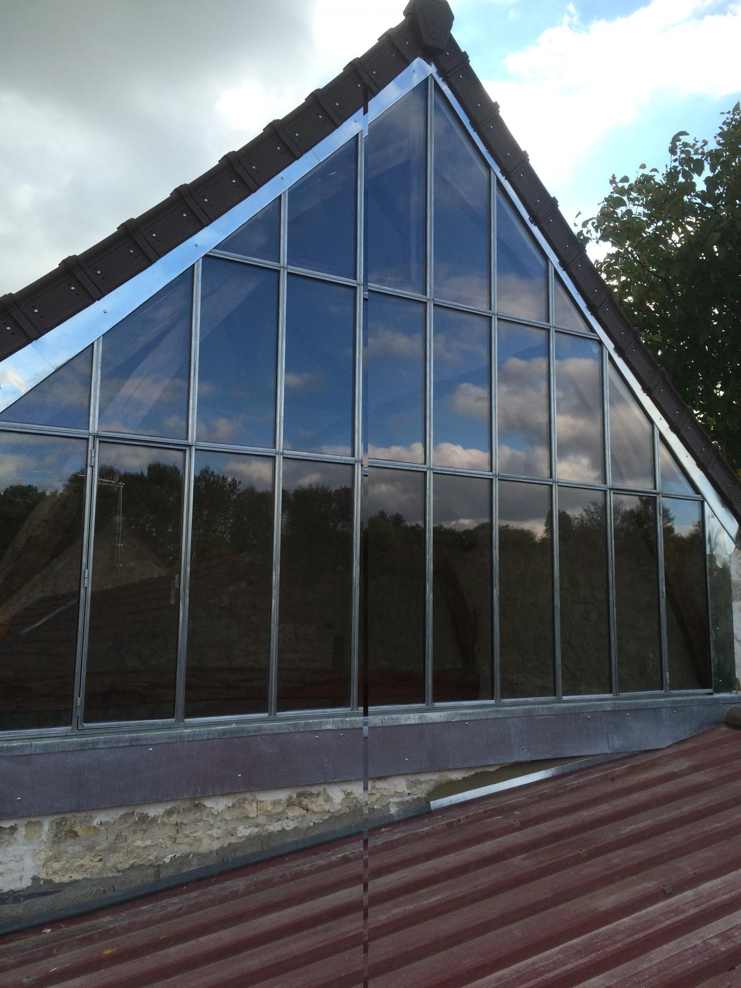 Création d'un pignon en verre Venette Oise ( aprés)