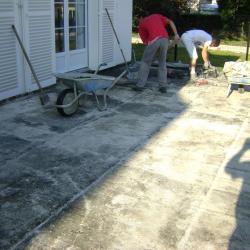 Terrasse en dallage en cours oise (60)